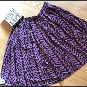 💜🆕#Purple / #Black Cottony #LuLaRoe #Madison NWT